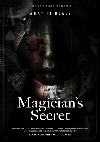 "Escape Game Magician""s Secret, BreakOut Games. Singapore."